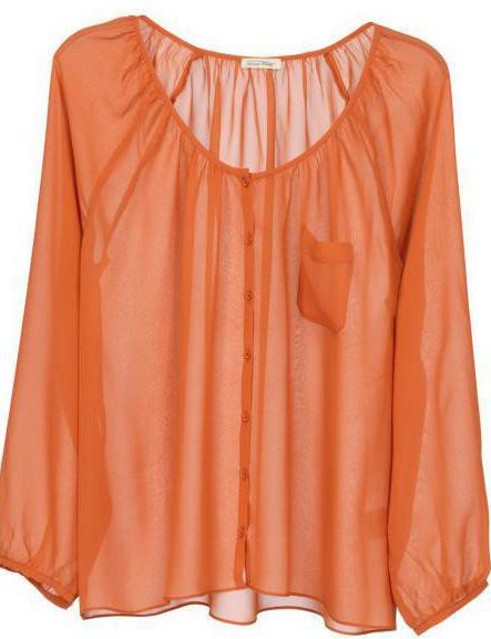 Модные блузки из шифона своими руками 82