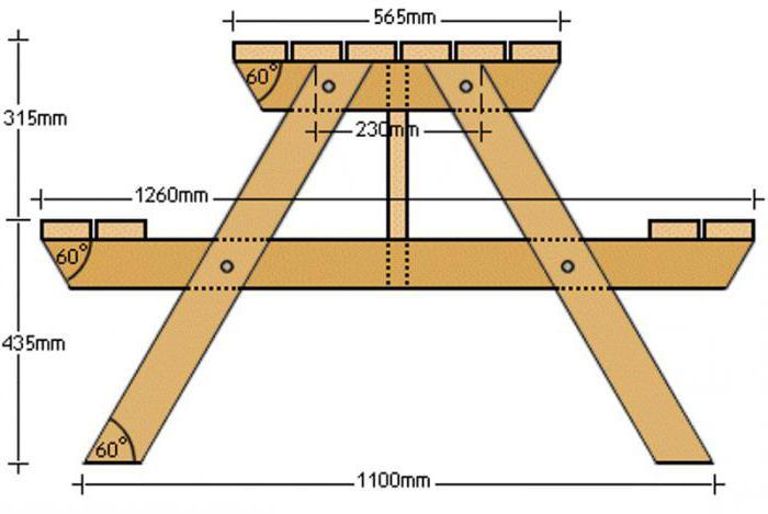 Чертеж раскладного стола из дерева своими руками 73