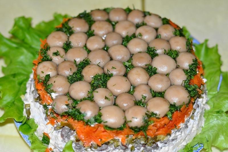 Салаты полянка рецепты с