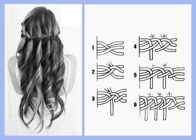 Плетение кос на каскад