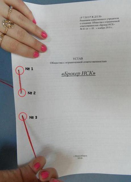Как должны быть сшиты документы 860