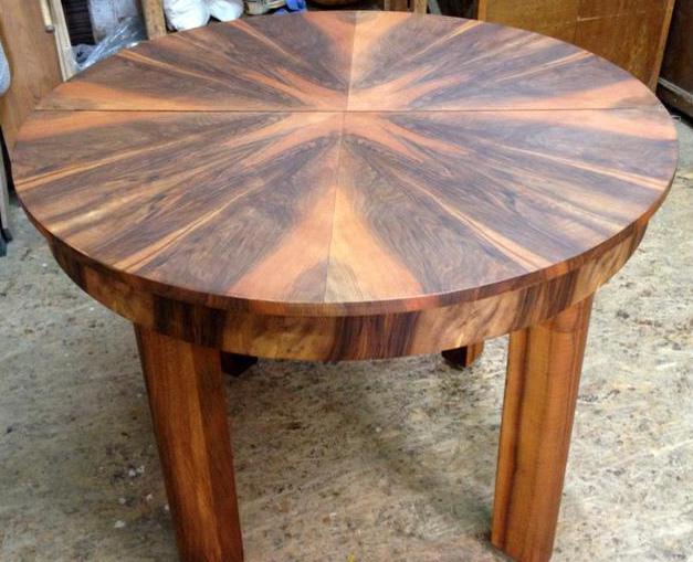 Реставрация раздвижного круглого стола своими руками 67