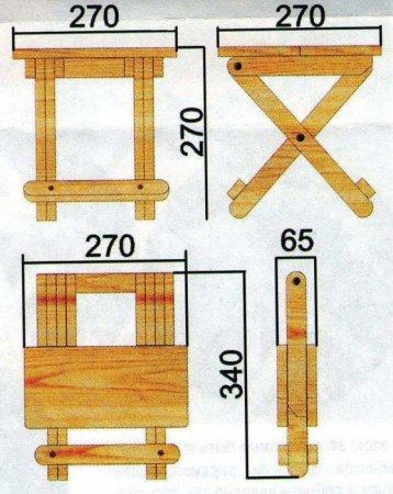Складные стулья из дерева 169