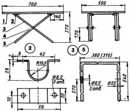 Раскладной стол своими руками чертежи с размерами 80