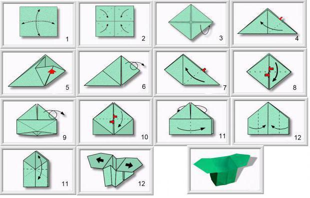 Коробочка оригами сделать