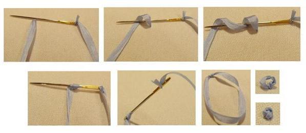 Мастер класс по вышивке лентами французский узелок