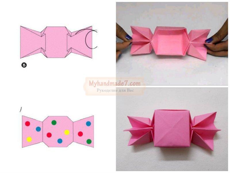 Как сделать конфеты из бумаги мастер класс 726