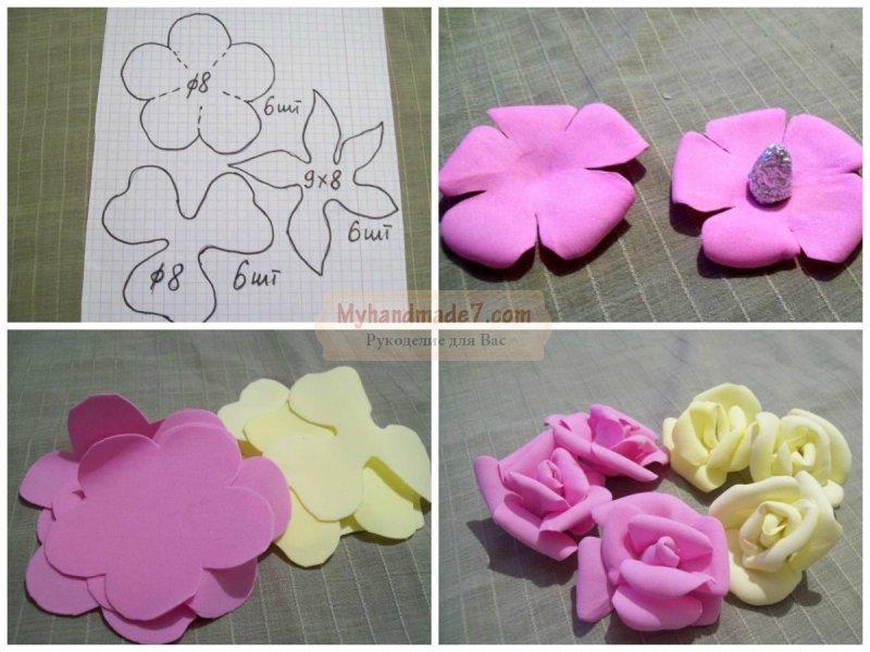 Изготовление цветов из фоамирана своими руками 26