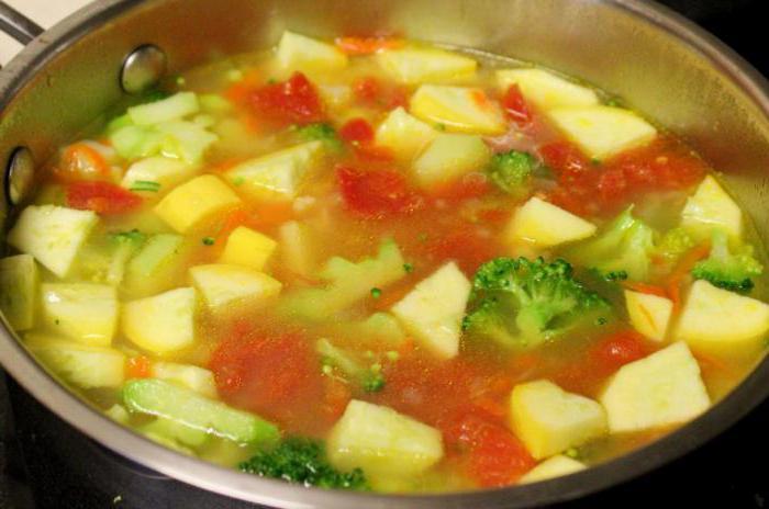 суп из кабачка и цветной капусты