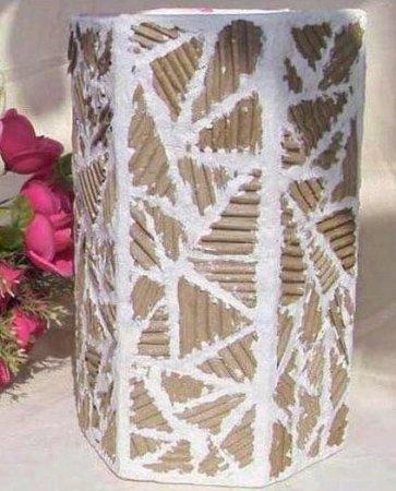 Напольная ваза из коробки своими руками 184