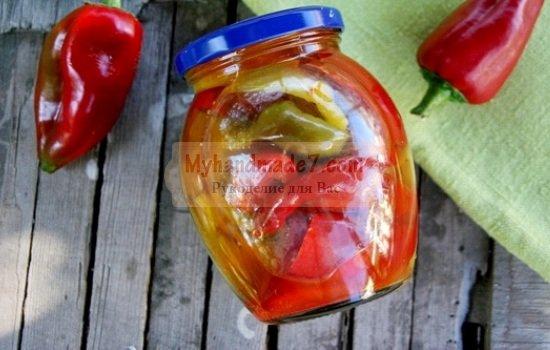 перець в олії рецепт