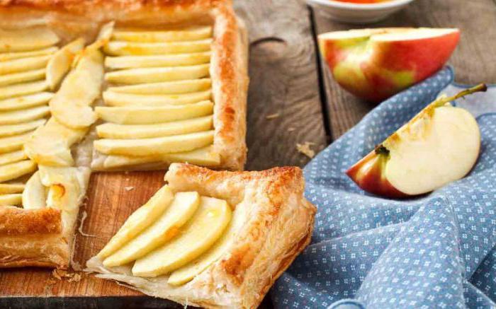 Рецепты пирогов из слоеного бездрожжевого теста с яблоками