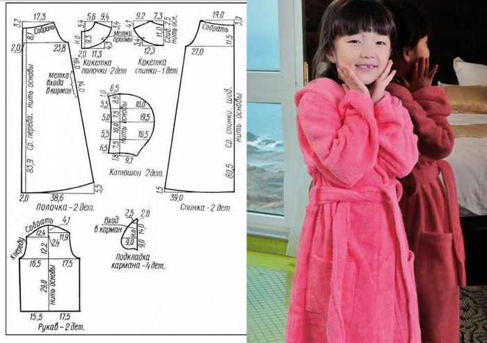 Выкройка халат для девочки с капюшоном