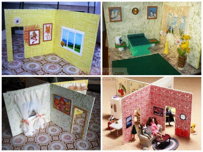 Мастер класс кукольный домик из коробки своими руками 80