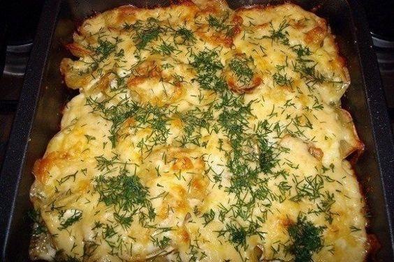 Рыба с картошкой и помидором в духовке рецепты пошагово