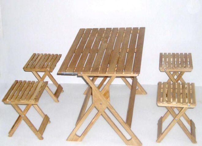Дачные столики и стульчики для пикника своими руками 68