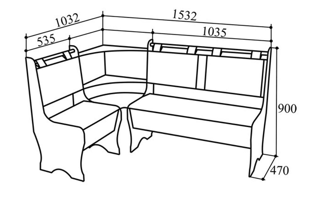 Схема сборки кухонных уголков своими руками 643
